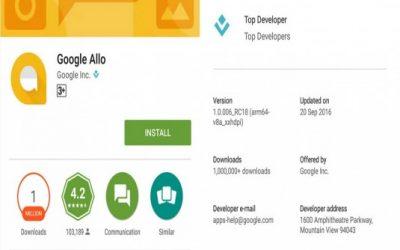 Google Allo Tembus 1 Juta Download